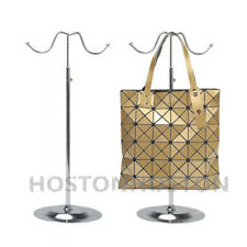 Adjustable Handbag Bag Display Stand Hat Scarf Necklace Hanger 2 Hooks