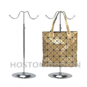 Adjustable Handbag Bag Display Stand Hat Scarf Necklace Hanger 2 Hooks