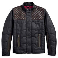 Harley-Davidson® Men's Quilted Red Leather Accent Jacket 97441-18VM