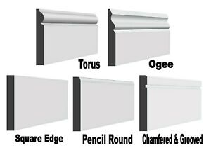 """MDF Skirting board. Plain, Ogee, Torus, Chamfered. 12 Types.. 26"""" -> 9 Foot.."""
