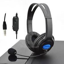 3.5mm Stereo Wired Gaming Headset Kopfhörer mit Mic für Sony PS4 Playsta