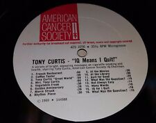 """Tony Curtis IQ Means I Quit! 12"""" American Cancer Society PSA ACS 2256 (1969)"""