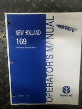 New Holland 169 PIN Number B0106 and Above Operator's Manual