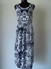 Liz Claiborne Sleeveless Floral Dress in Navy Size PL