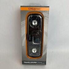 NEW OPEN BOX Creative Travelsound Zen Stone Stereo Portable Speaker