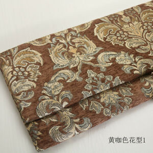 European Chenille Pillow Cushion Case Upholstery Material Jacquard Sofa Fabric
