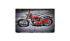 1954 matchless g9 Bike Motorcycle A4 Retro Metal Sign Aluminium