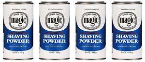 Magic Shaving Powder Blue 5 Ounce Regular Depilatory (145ml) (4 Pack)