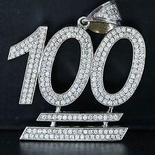 14k oro bianco 6.00ct Diamante 100% SPECIALE SU MISURA Collana con ciondolo