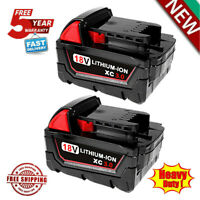 2X For Milwaukee M18 Lithium Ion XC 4.0 Extended Capacity Battery 48-11-1852 18V