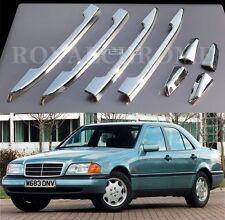 USA STOCK ROYAL PREMIUM CHROME Door Handle Trims Mercedes W202 W210 C E CLASS