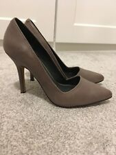 Stone Grey Leather Stiletto High Heels UK Size 4 (EU 37), Aldo