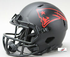 NEW ENGLAND PATRIOTS - Black Eclipse Riddell Speed Mini Helmet (NEW IN BOX)