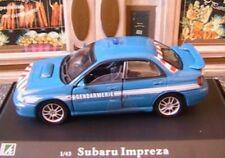SUBARU IMPREZA GENDARMERIE NATIONALE OLIEX 1/43 BLUE LHD LEFT HAND DRIVE BLUE