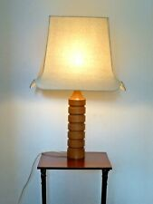 Vintage Large Wooden Table Lamp
