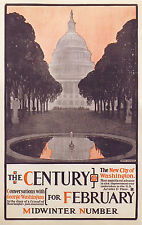 THE CENTURY MAGAZINE for February original poster  c.1896 by Henry McCarter