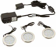 Under Cabinet Lighting 3000K Soft Bright White LED Puck Lights (Corded), 3 Pack