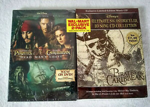NEW Pirates of the Caribbean Dead Man's Chest DVD & Disney CD Exclusive 2-Pack