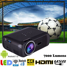 4K HD 1080P 3D LED Projector WiFi Bluetooth HDMI Home Theater Cinema Android LS