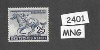#2401  Very nice MNG stamp / 1942 Blue Ribbon Horse race / Third Reich / Hamburg