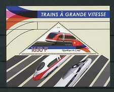 Congo 2015 MNH High-Speed Trains 1v S/S Transrapid Shanghai Railways Stamps