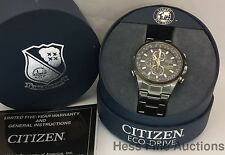 Citizen Eco Drive World Chronograph WR200 Blue Angels Mens Watch w Box Papers