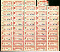 US Stamps #FX NY1 Mint NH Pane of 48+ 1 Used Showpiece Scott Value $2,400.00+