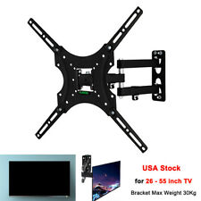 Universal Tv Wall Mount Bracket 26-55 Inch Swivel LCD Screen Stand Holder Frame