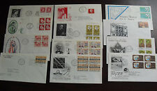 Lot of 12 Vintage Mostly 1960s Fdc First Day Covers from Canada Elizabeth 1954