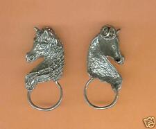 4 wholesale pewter horse eyeglass holder pins E5126