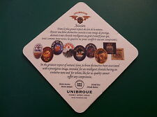 Beer Bar Coaster ~ Chambly, Quebec UNIBROUE Canadian Brewery ~ La Fin Du Monde