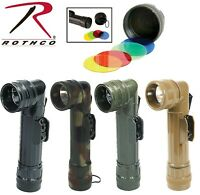 G.I. Type D-Cell Flashlights Military Fulton Style Angle Head D-Cell 639 - 638