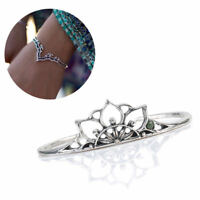 Boho Women Tibetan Silver Triangle Hollow Bracelet Bangle Cuff Bangle Jewelry