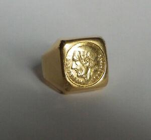 Herren Siegelring Gelbgold 750er  12 Gramm