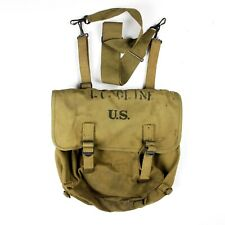 WW2 US ARMY M1936 M36 MUSETTE FIELD BAG BACKPACK IDENTIFIED OFFICER LIEUTENANT