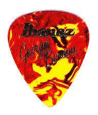 George Benson Signature Ibanez Brown Faux Tortoise Guitar Pick - 1990s Tours
