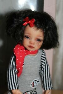 Mini Paola Reina OOAK artist face up by Alex Berg jointed articulated body