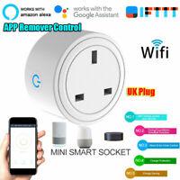 Smart UK Plug Outlet Switch WiFi Socket Remote Control For Amazon Alexa Google