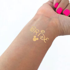 Hens Night Party Temporary Tattoo Metallic Gold- BRIDE DISNEY INSPIRED