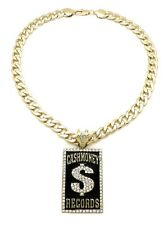 "11mm 20"" Cuban Chain Cash Money Pendant With"