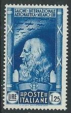 1935 REGNO SALONE AERONAUTICO 1,25 LIRE MH * - Y055