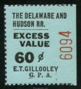 Delaware & Hudson Railroad Corp. RRDHR10.3 mint, VF