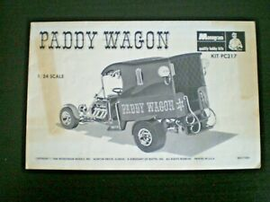 "Monogram PC217 ""PADDY WAGON"" Original Model Car Instruction sheet from 1968"