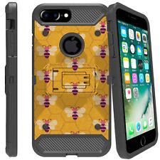 """For Apple iPhone 7 Plus (5.5"""") Shockproof Holster Dual Layer Case w/ Stand"""