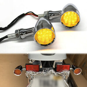 Motorcycle LED Turn Signal Lights Amber For Harley XL Sportster 1200 883 Iron US