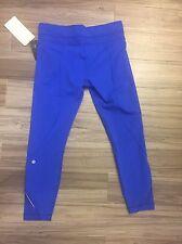Lululemon Size 10 Inspire Tight II Pants CEBL Cerulean Blue Run NWT Mesh