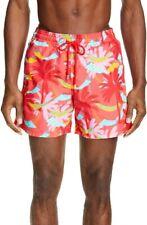 Vilebrequin Red Moorea Swim Shorts In Hibiscus Trunks  XL