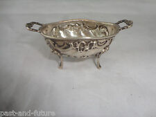 "800 SILVER AUSTRO HUNGARIAN OR GERMANY EGG SHAPE FOOTED SALT DISH , 1"" X 2 1/2"""