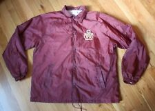 Grand Ole Opry Men's M Maroon Nylon Jacket Windbreaker w/ Cotton Flannel Lining