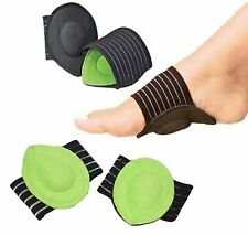 1 Pair Foot Arch Support Shock Absorb Cushion Heel Plantar Fasciiti Pain Relief